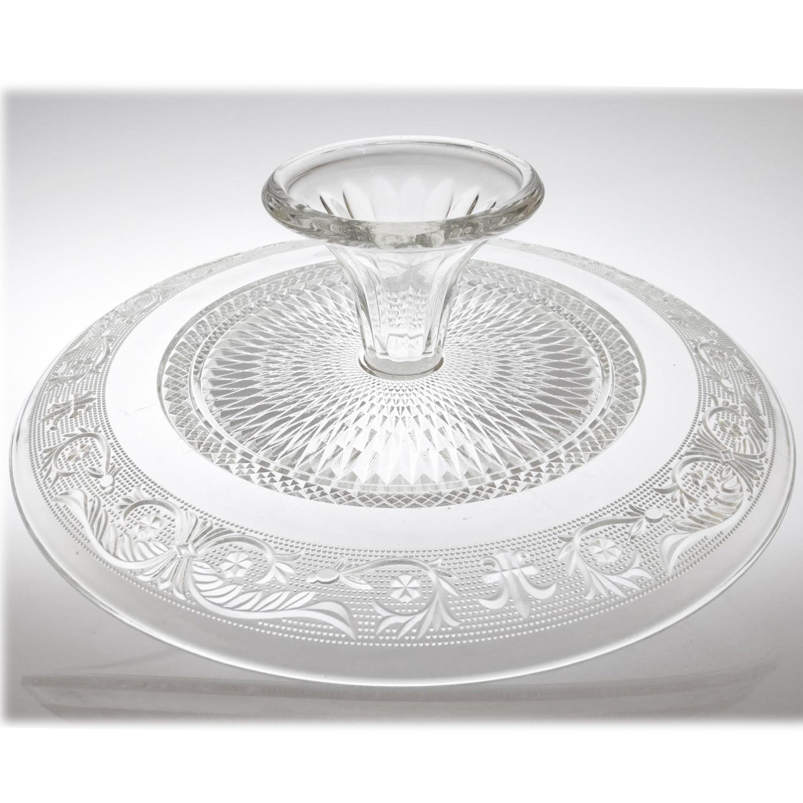 am design glas tortenplatte mit fu 33cm transparent wohnaccessoires geschirr tortenst nder 3177. Black Bedroom Furniture Sets. Home Design Ideas