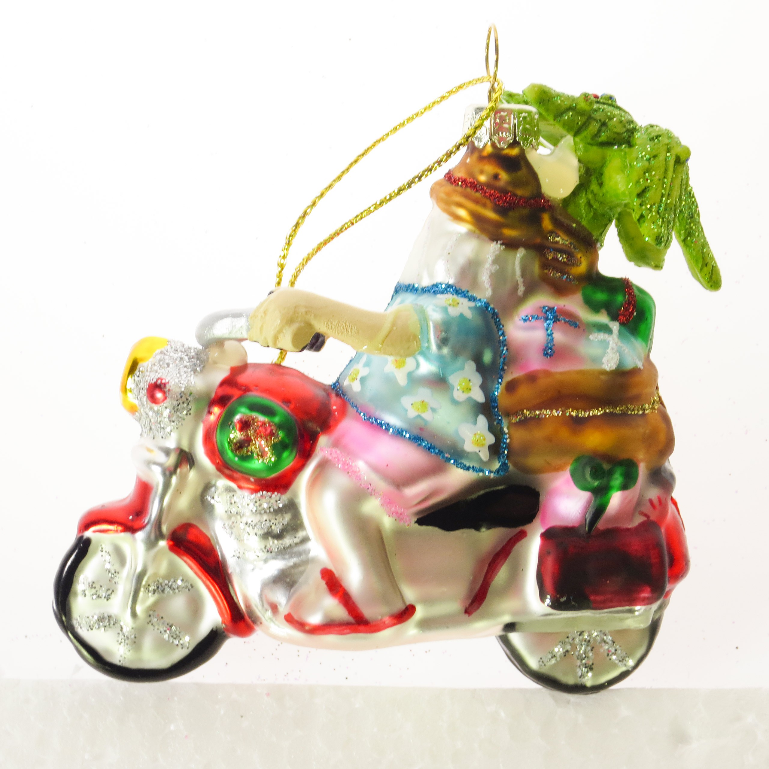 Hoff interieur glasschmuck christbaumschmuck 39 biker for Hoff interieur online shop