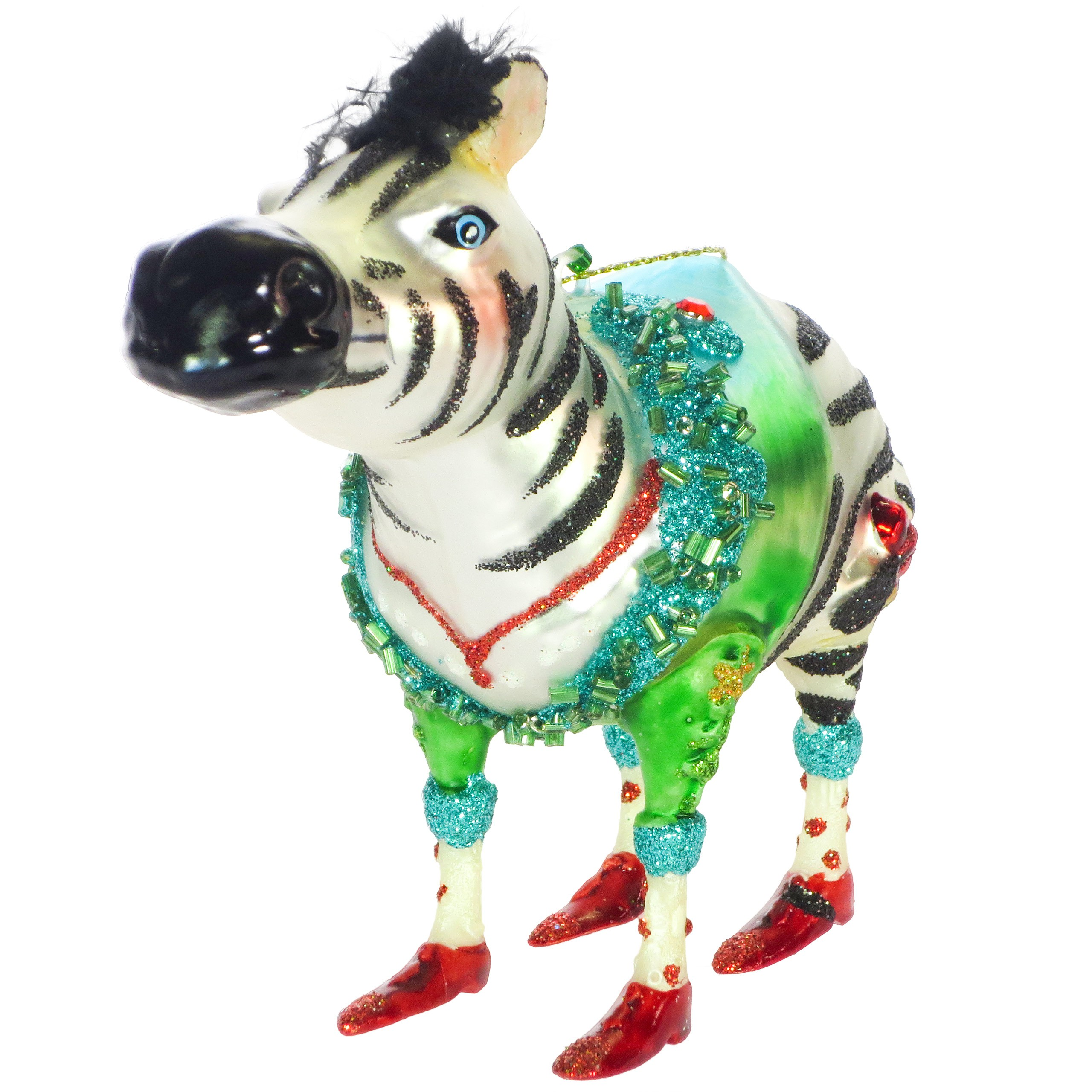 Hoff interieur glasschmuck christbaumschmuck 39 zebra for Hoff interieur online shop